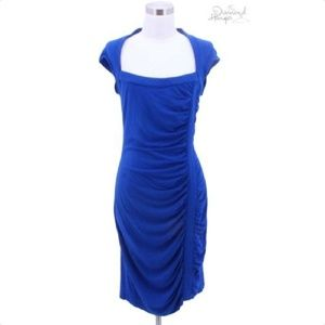 A128 CACHE Designer Dress Size Medium 10 Blue